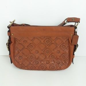 NWT Coach Leather Brown Woven Handbag Tote